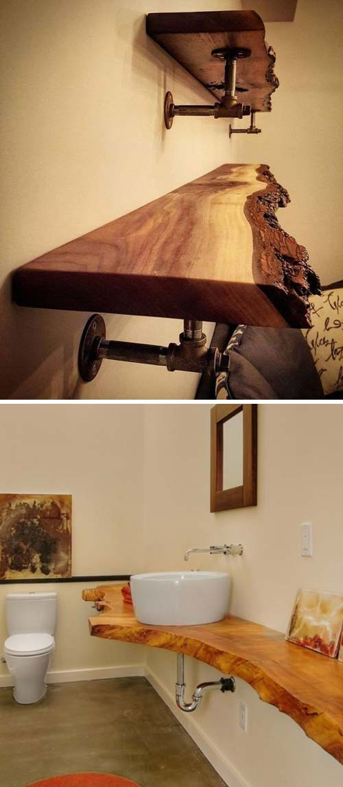 20 Awesome Live Edge Wood Decoration Ideas
