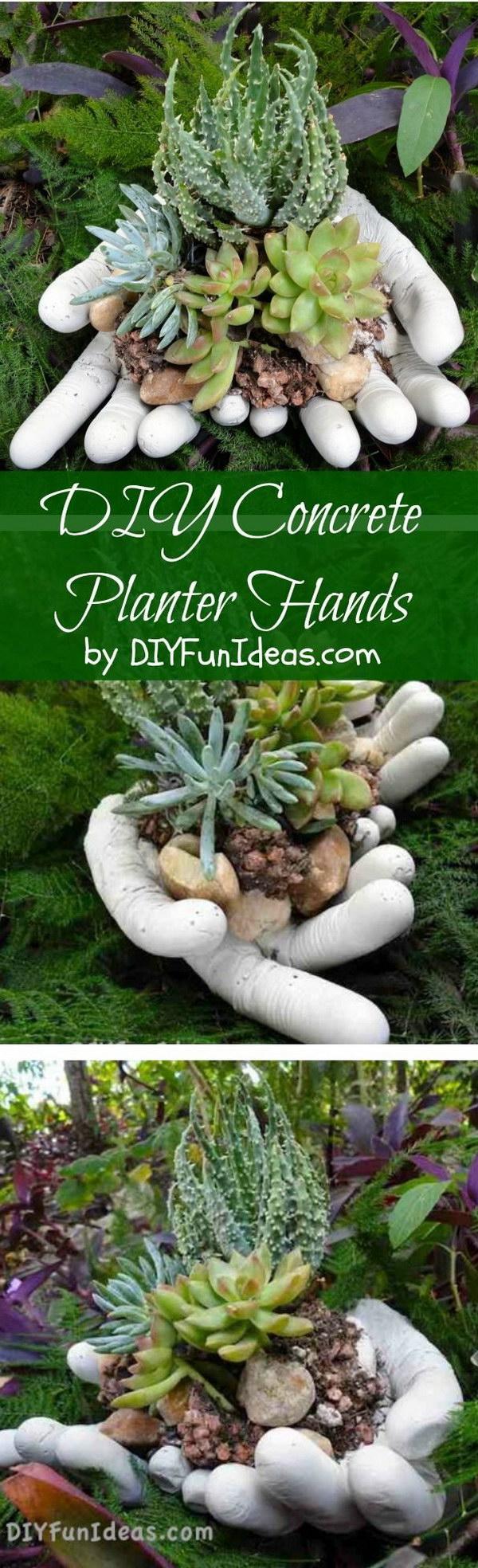 DIY Concrete Hand Planters & Bowls.
